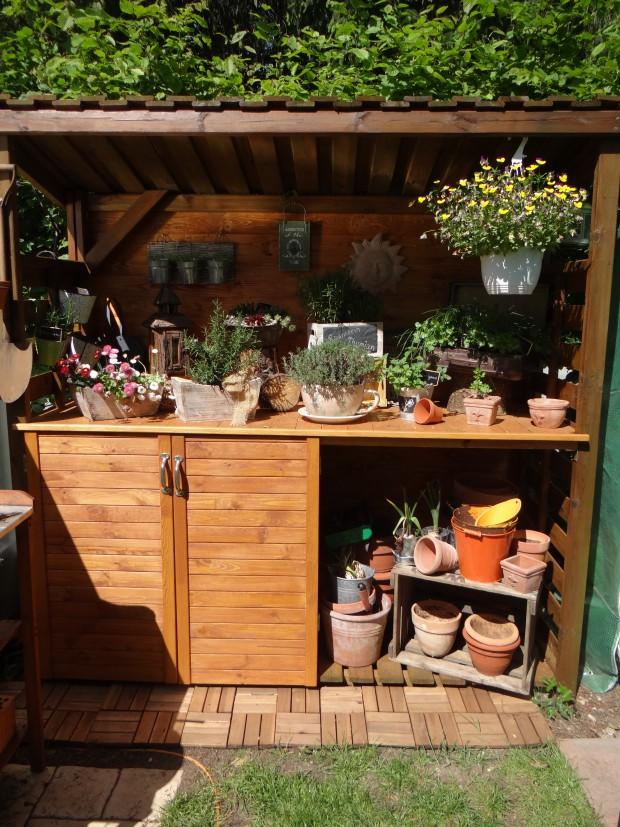 Der Gartenschrank ist erst 2014 entstanden und ist Trixis aktuellstes Projekt