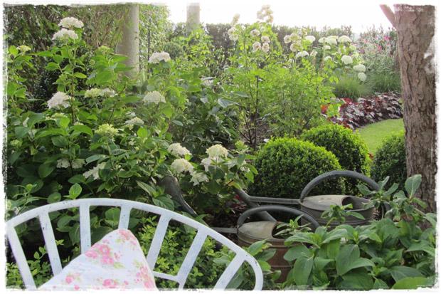 alte Kannen im Garten