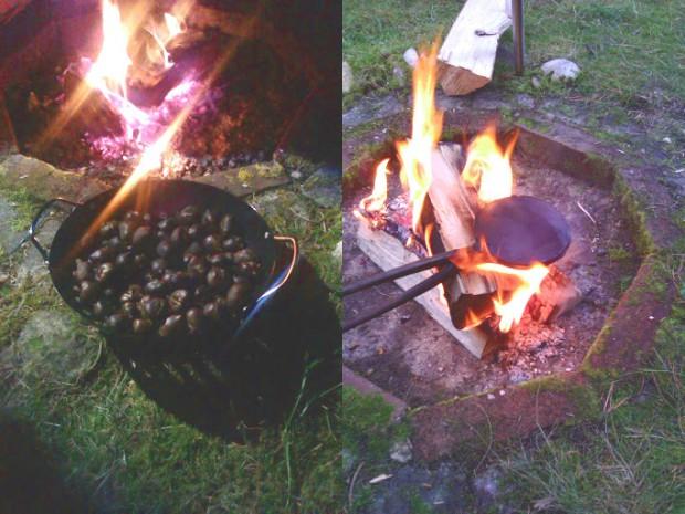 Maronen am Lagerfeuer
