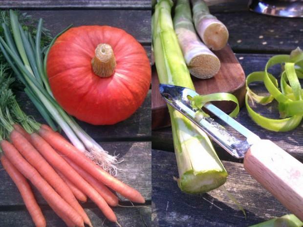 Karotten, Kürbis und Rettich