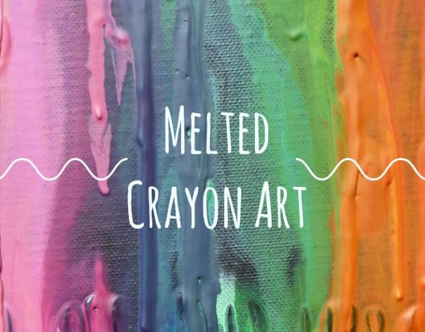 melted-crayon-art aufschrift auf Wachsmalkreidengemälde