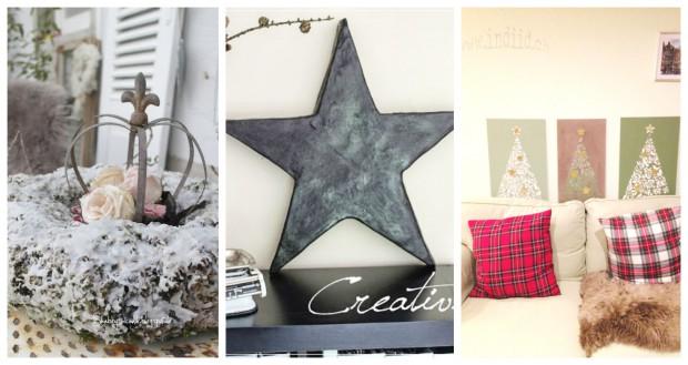 Ein Kranz, ein Stern, ein Weihnachtsbaum: Die Klassiker der Weihnachtsdeko gib's diesmal im Shabby-Style!