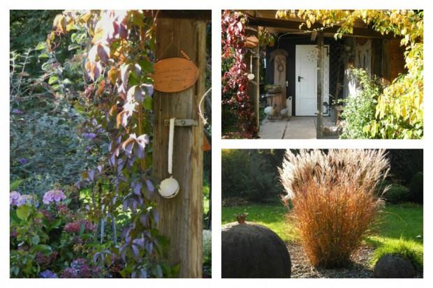 Heikes Garten im Herbst – bei Sonnenschein eine wahre Farbenpracht.