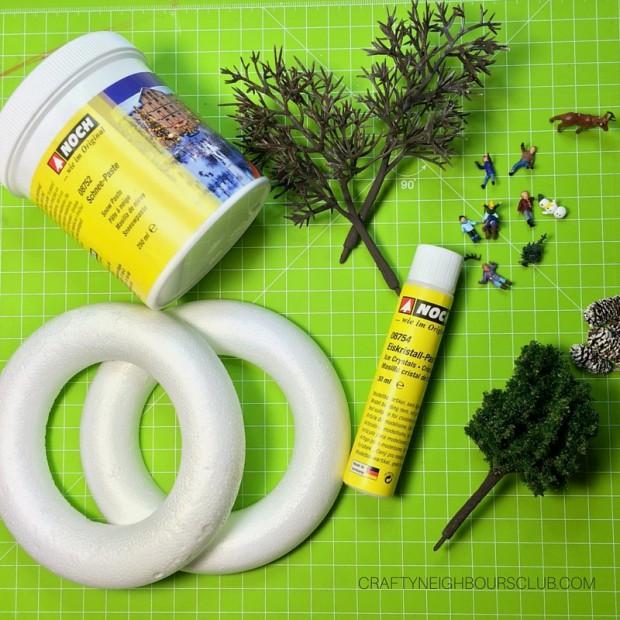 Wenig Equipment – große Wirkung: Für die Winterdeko braucht ihr nicht viel Material.