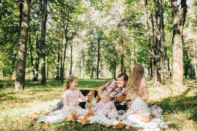 Familie Picknick Herbst