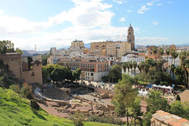 Malaga im Winter Zentrum
