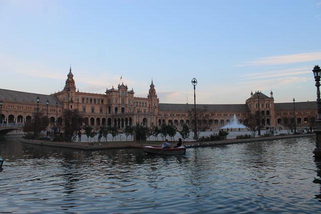 Sevilla im Winter Plaza de Espana