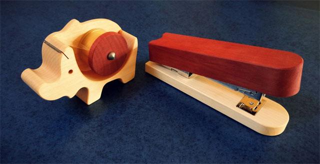 Büroartikel aus Holz