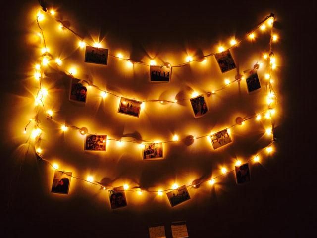 Beleuchtete Fotogirlande