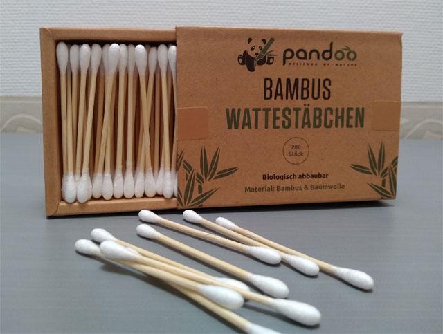 Wattestäbchen aus Bambus