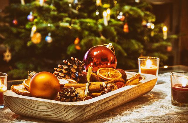 Deko-Schale zu Weihnachten