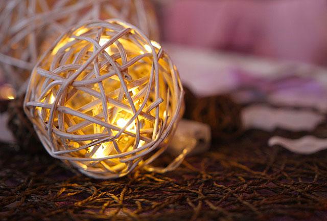 Weihnachtliche Deko mit Beleuchtung