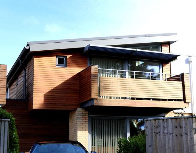 Balkon mit Vordach