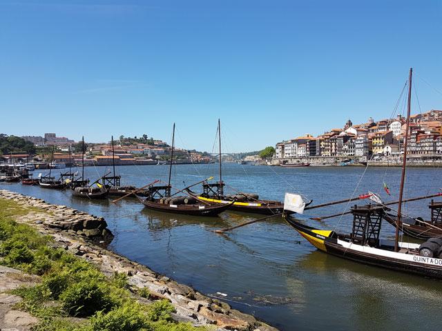 Portwein in Porto am Ufer