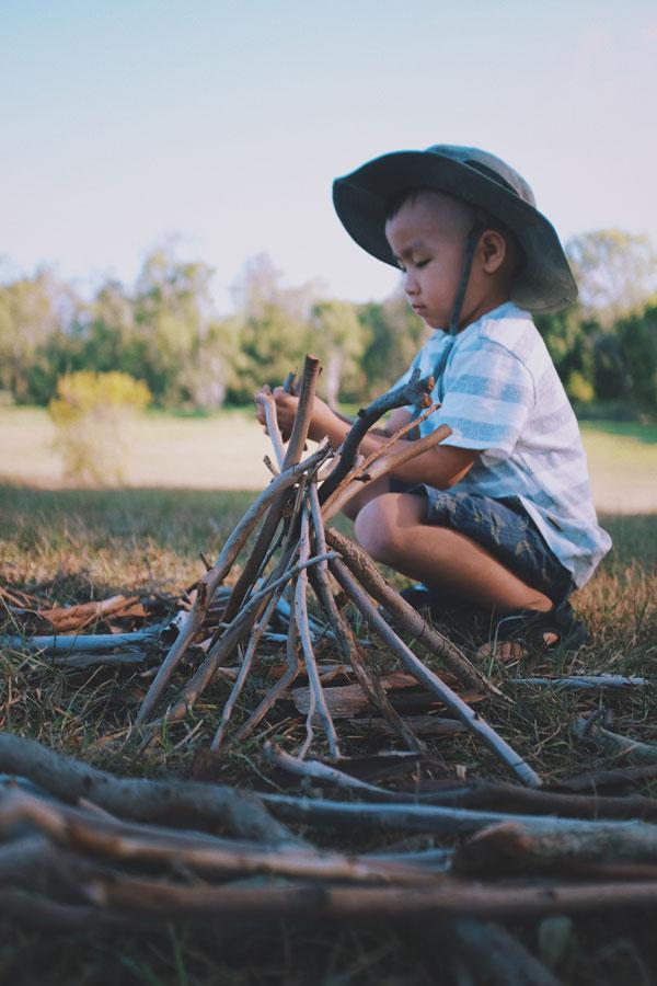 Camping Kinder lernen