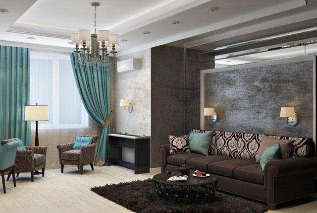Struktur und Farbe Wand Wohnzimmer