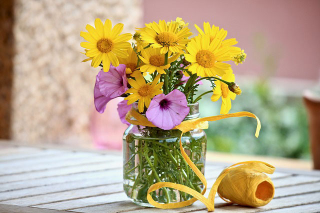 Blumen Terrasse Anblick