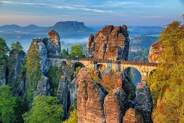 Elbsandsteingebirge Bastei-Brücke