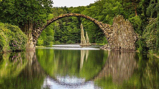 Natur Rakotzbrücke Sachsen