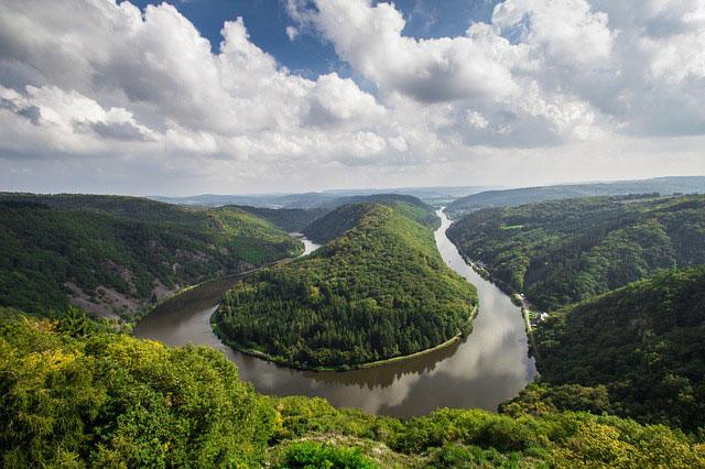 Saarschleife Flusslandschaft