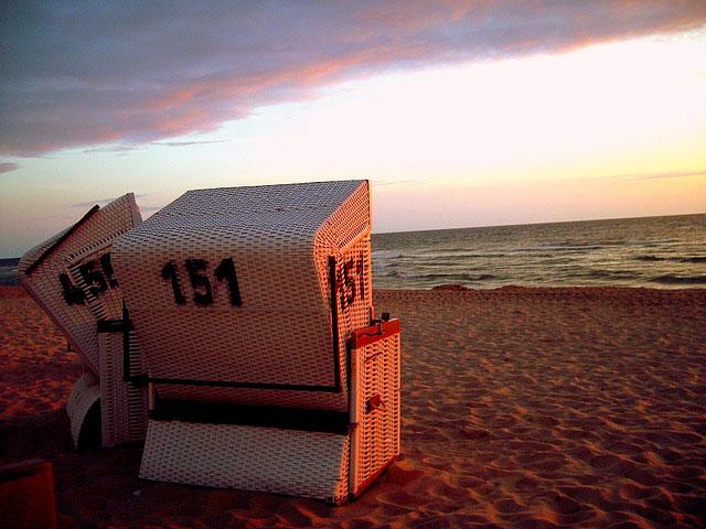 Sylt Meer Strandkorb