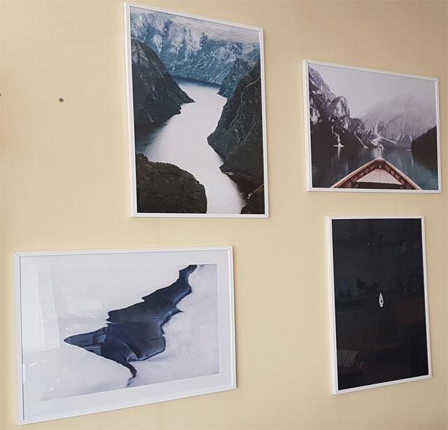 Bilderwand Wohnzimmer Naturbilder