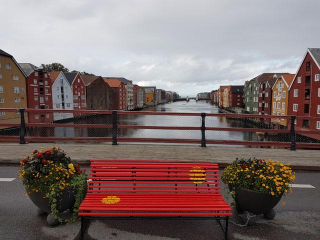 Trondheim Bryggene bunte Häuser